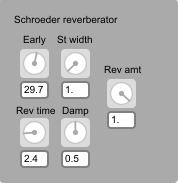 Schroeder reverberator