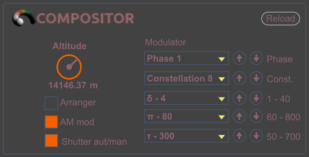 Compositor WS Altitude and Shutter switches