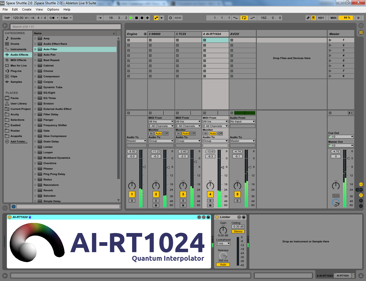 AI-RT1024 in Ableton