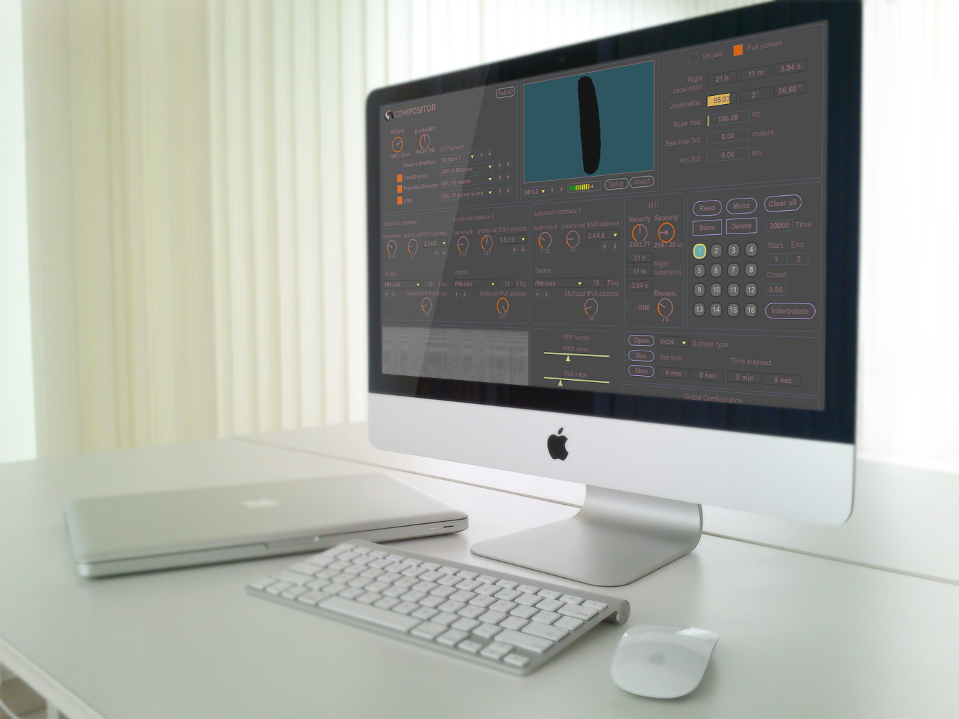 Compositor NRTOS v9 on iMac